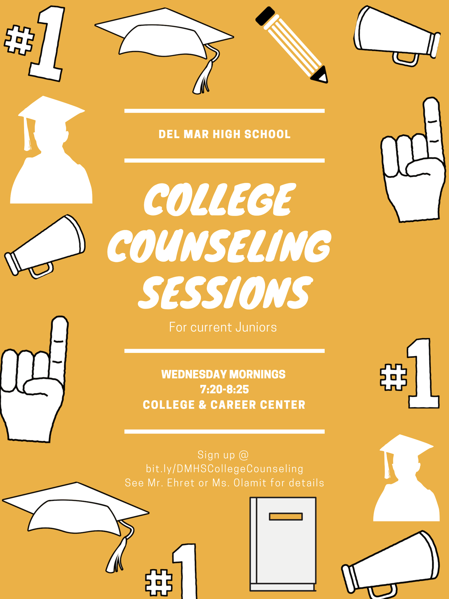 image of college counseling sessions flyer