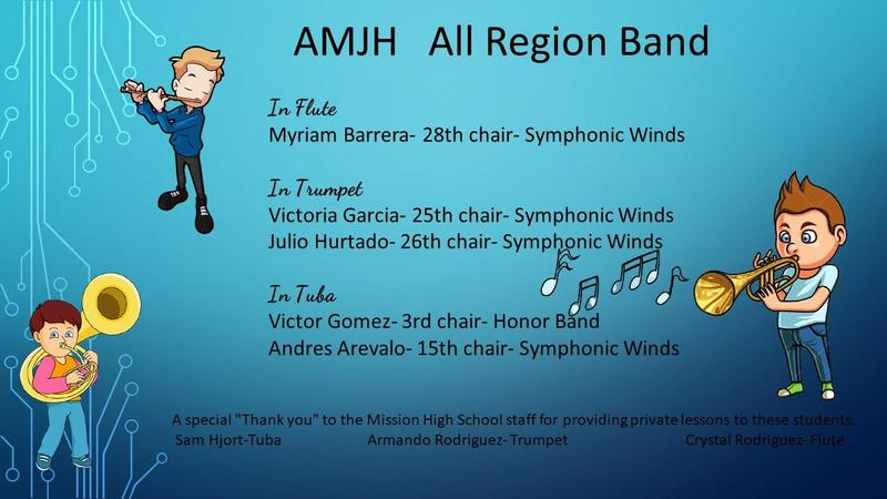 AMJH All region band
