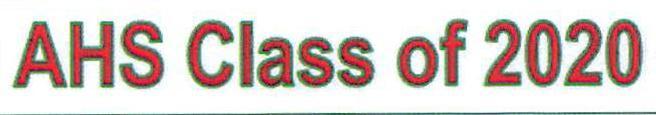 AHS Class of 2020 Diploma Information Thumbnail Image