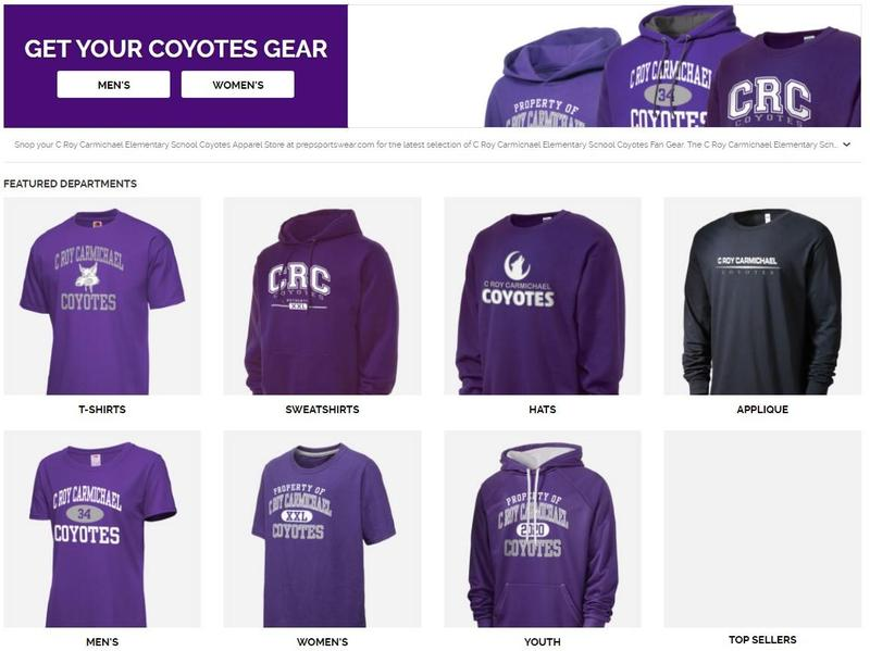 CRC Spirit Gear available at PrepSportswear.com