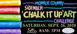 sidewalk chalk on black background