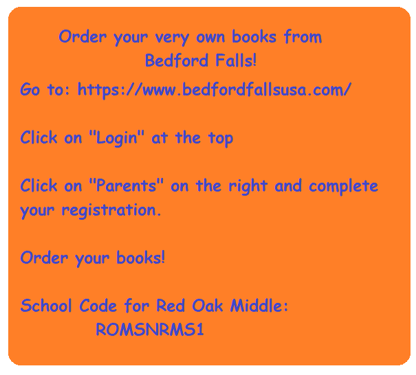 Order books from Bedford Falls