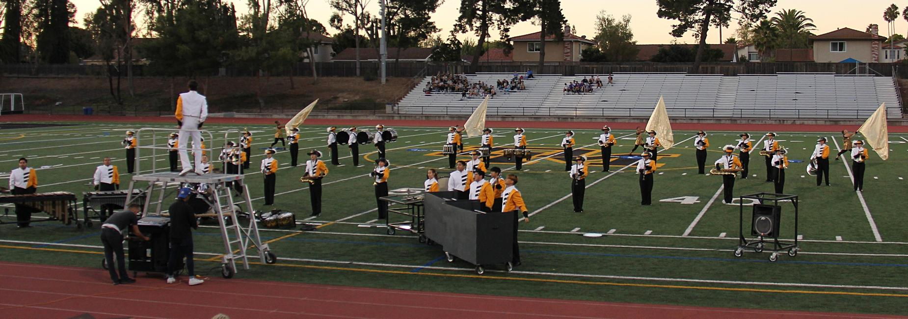 image of 2019 Del Mar marching band and colorguard