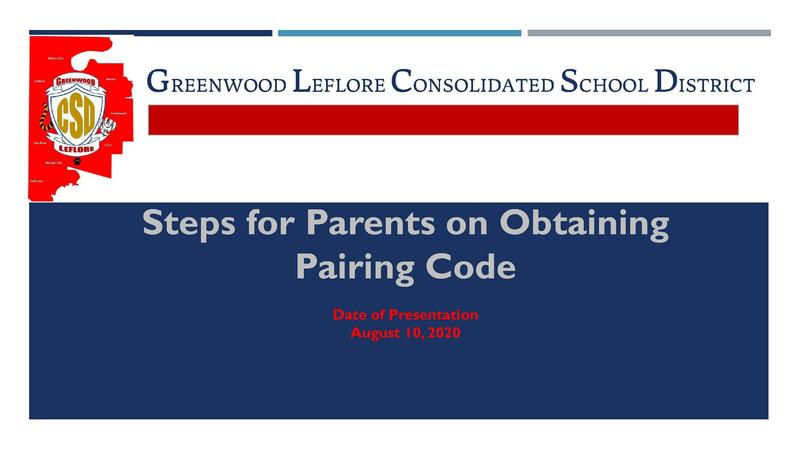 GLCSD Steps for Parents on Obtaining Pairing Code Featured Photo