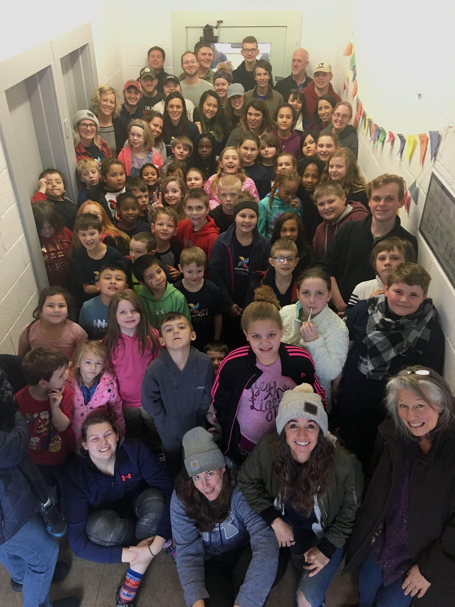 pinwheel tutors and students in new facility