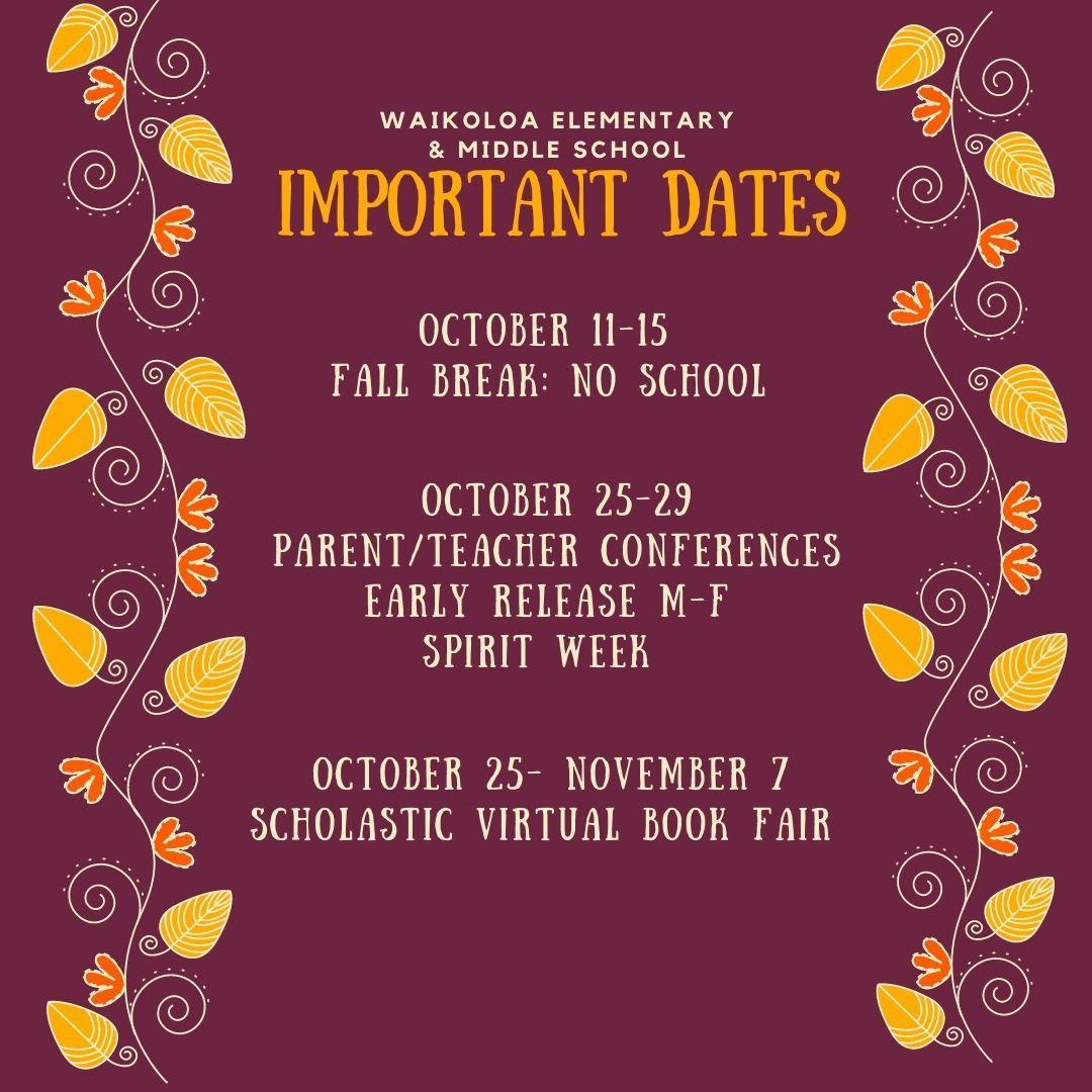 fall important dates