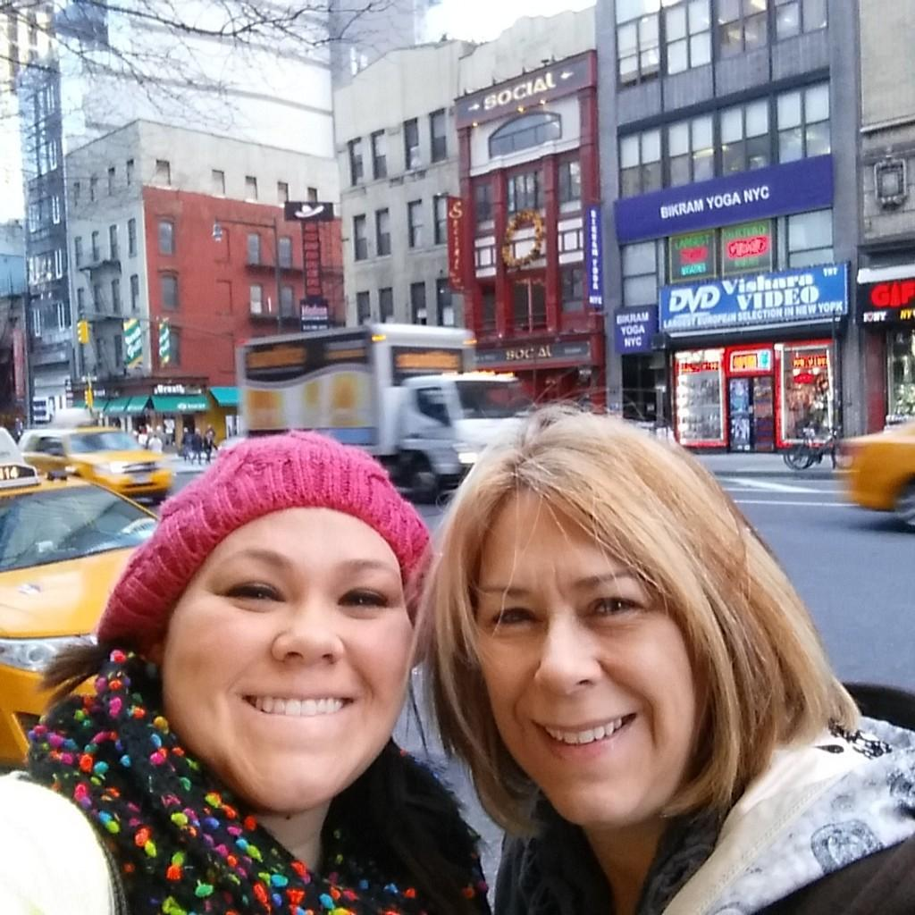 Ms. Reep and her mom enjoying NYC.