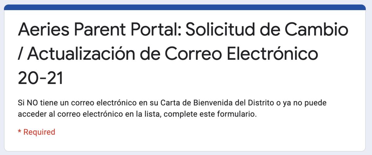 Email Change/Update (Spanish)