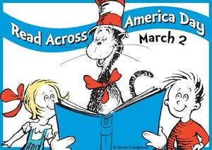 national read across america day dr. seuss with children photo