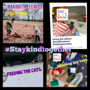 Hashtag Stay kind together collage