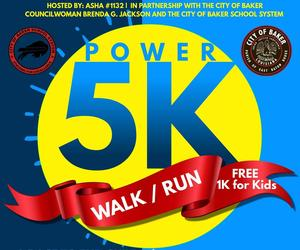 A graphic promoting the 2019 Power Run-Walk 2019, a race to end child sexual abuse