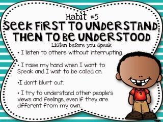seek first to understand Leader in me Slide