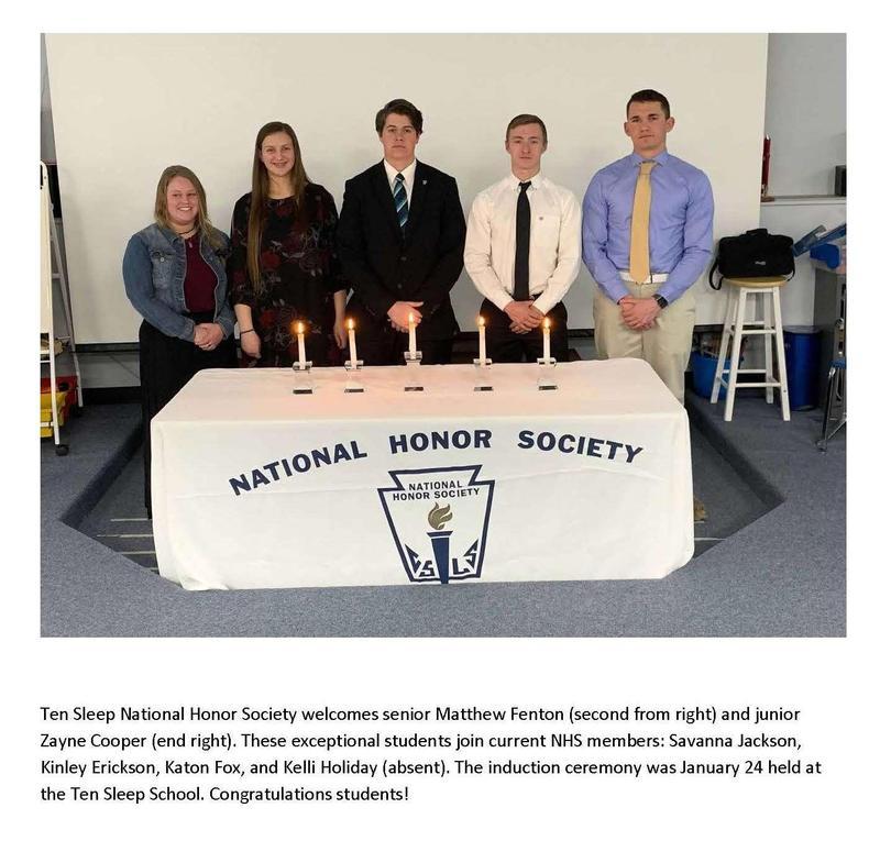 Ten Sleep National Honor Society Thumbnail Image