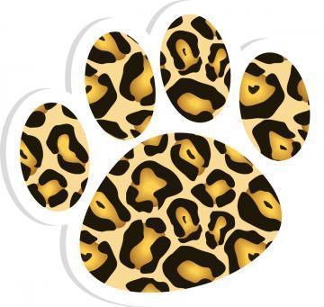 Jaguar print paw