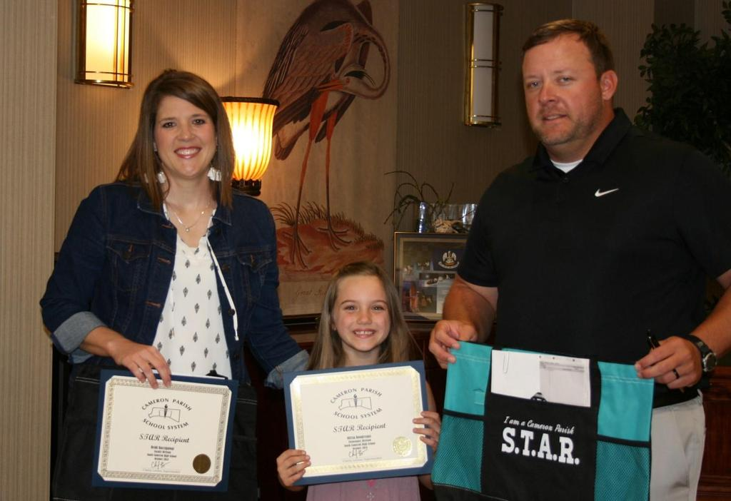 STAR winners at the November Board Meeting