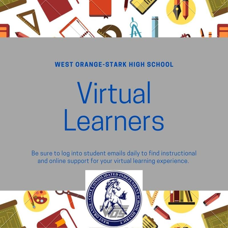 Be sure to log into student emails daily to find instructional and online support for your virtual learning experience.
