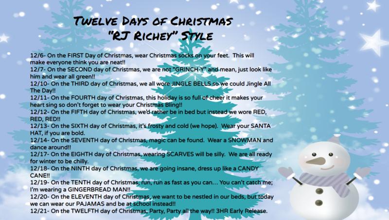 Twelve Days of Christmas - RJ Richey Style Thumbnail Image