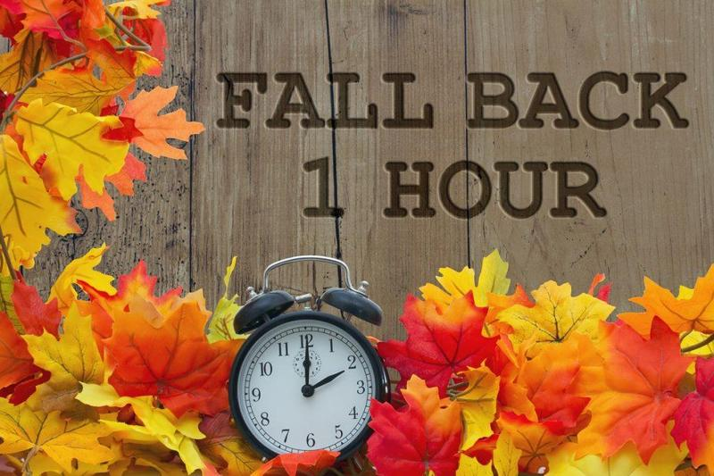 Remember to set your clocks back this weekend! Thumbnail Image