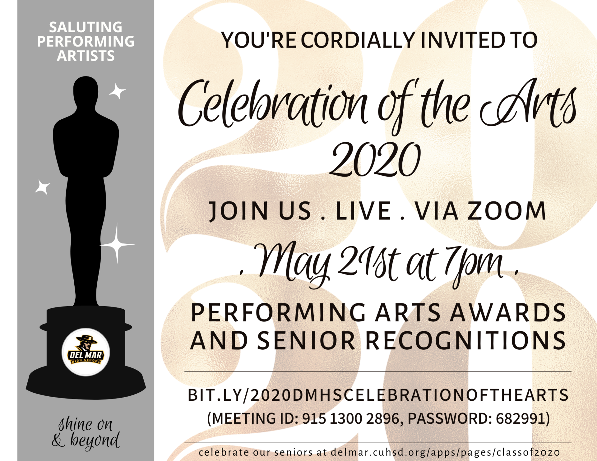 image of virtual celebration of the arts on may 21, 2020 invite
