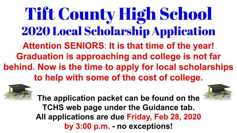 Tift County High School 2020 Local Scholarships Featured Photo