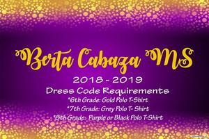 BCMS Mode of Dress
