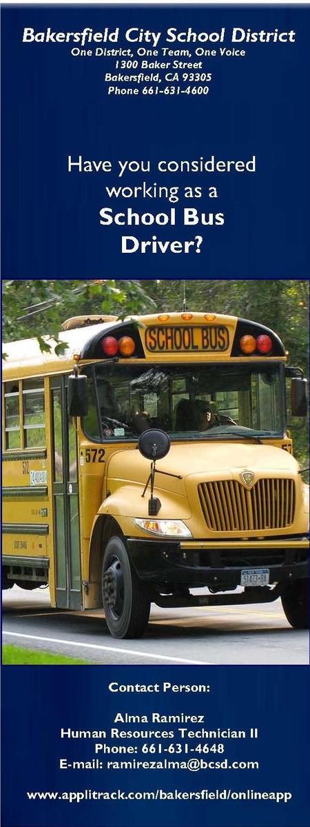 BCSD School Bus Driver