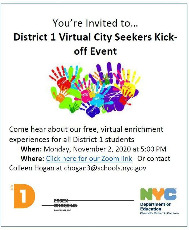 District 1 Virtual City Seekers Kick-off Event探索第一學區虛擬城市