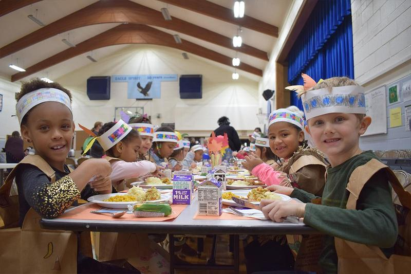 Southeast students enjoy Thanksgiving feast Thumbnail Image