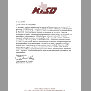 KISD Fourth Closure Letter-Spanish.png