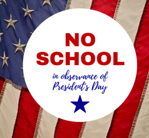 no school presidents day poster