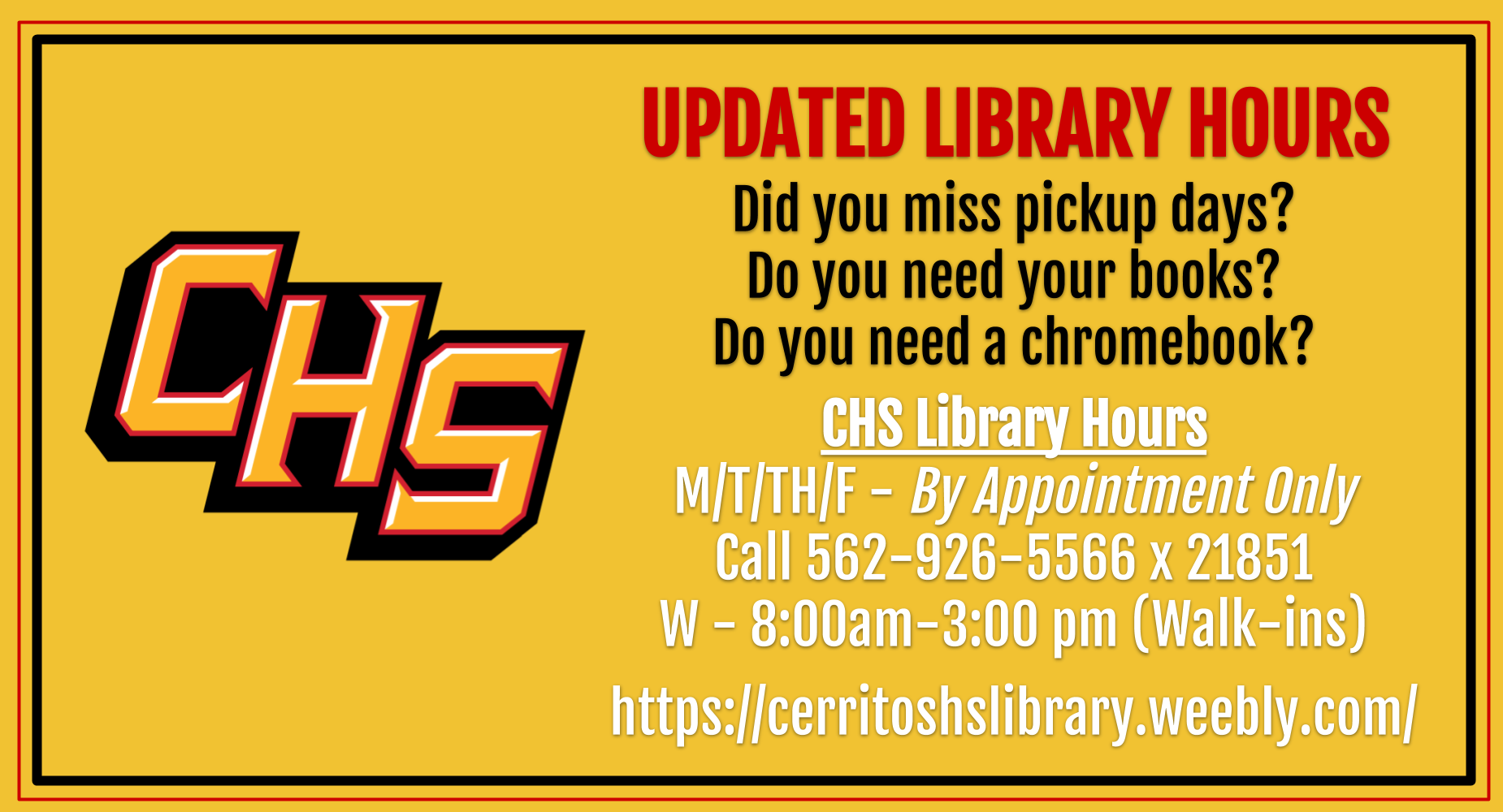 Updated LibraryHours