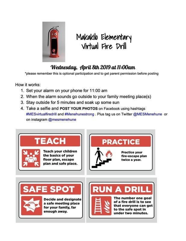 Makakilo Elementary Virtual Fire Drill Featured Photo