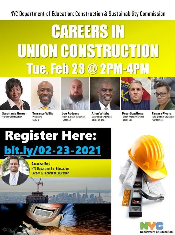 Careers in Union Construction Flyer