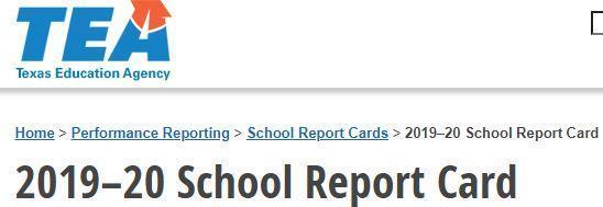 Texas Education Agency School Report Card Elkhart Intermediate 2019-20 Featured Photo