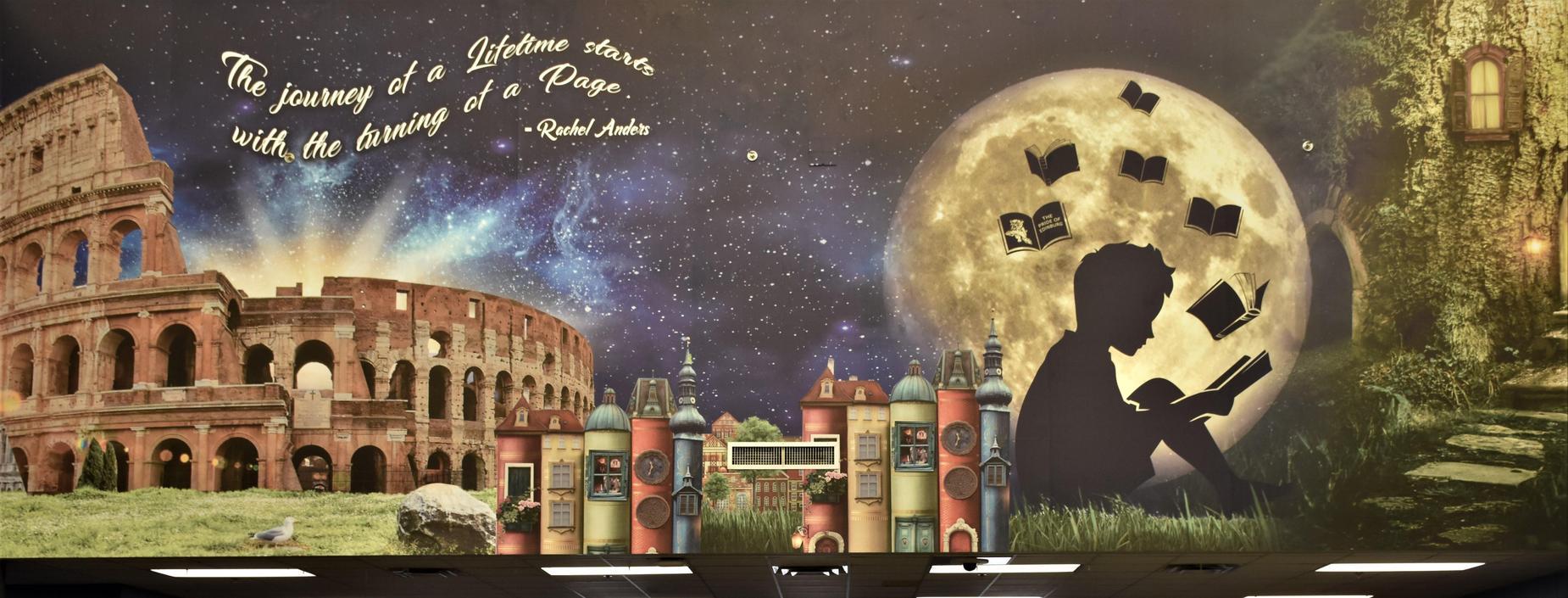 Bobcat Library Mural