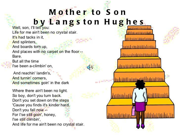 Mother to Son Poem Image