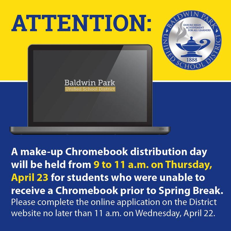 If your student is in need of a device, please complete the online application no later than 11 a.m. Wednesday, April 22.