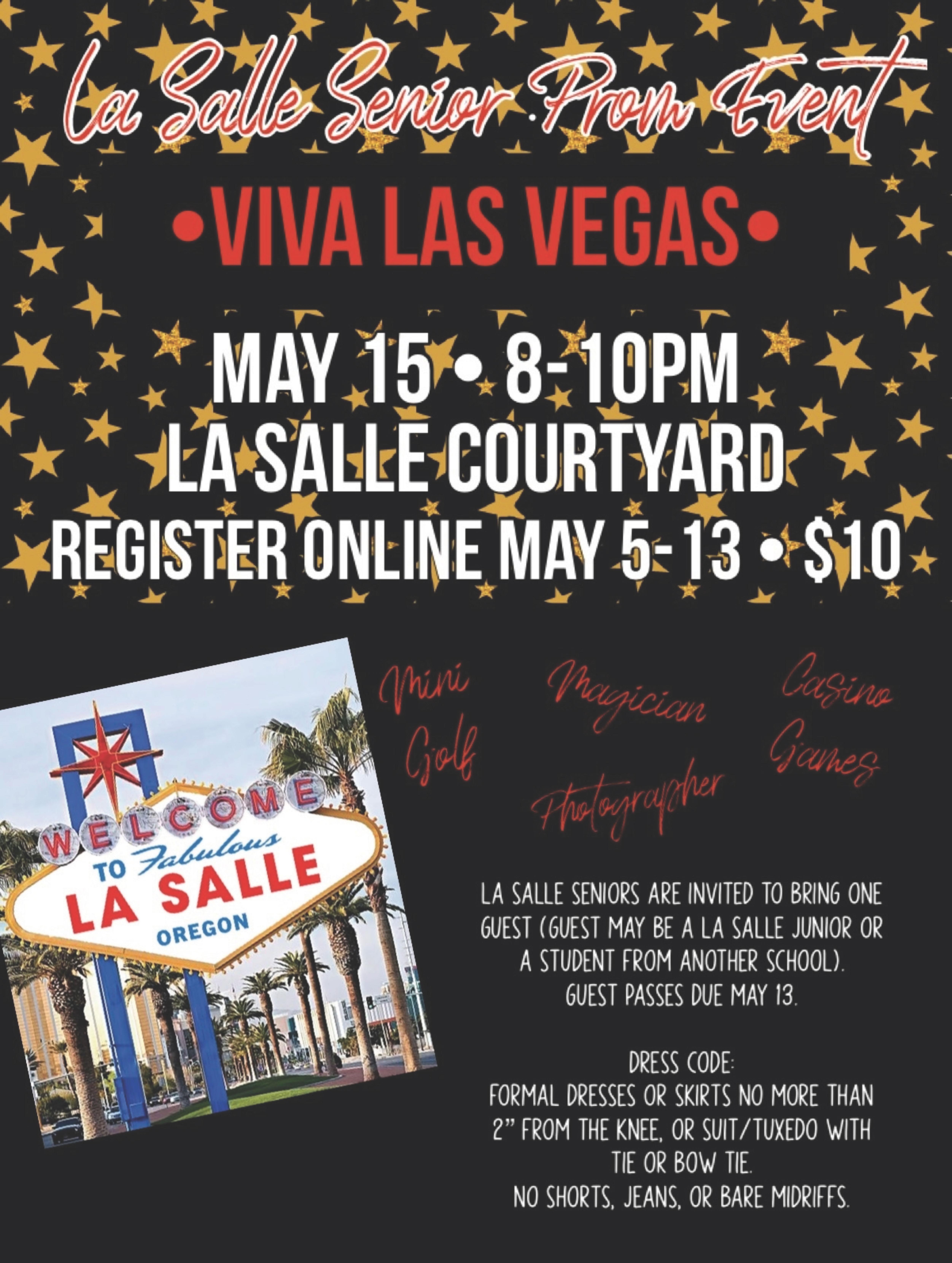 Prom promo flyer for Viva Las Vegas event
