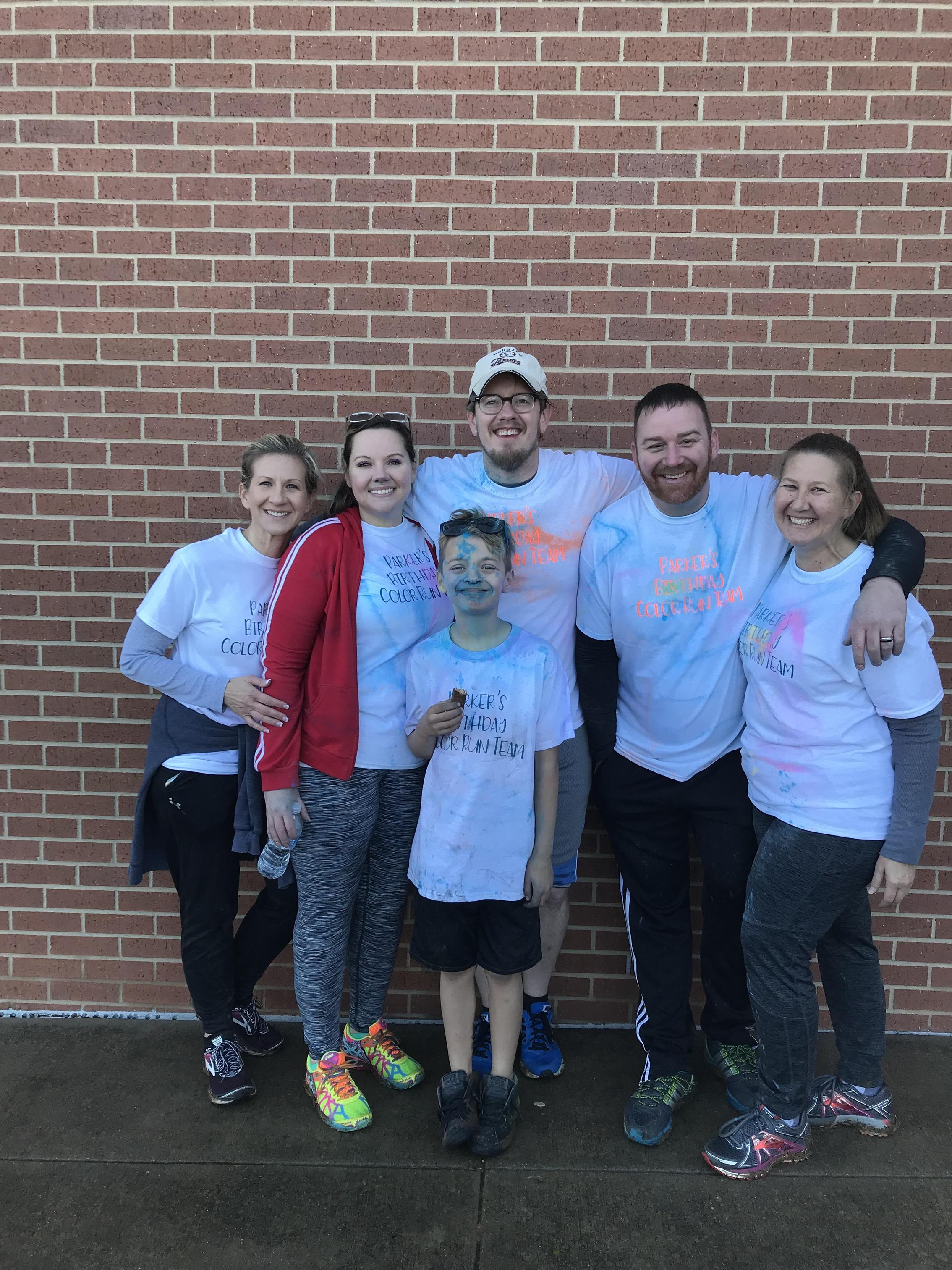 Color Run with my family.
