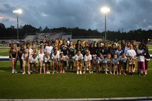 Little Gator Cheerleaders Show Their Gator Pride