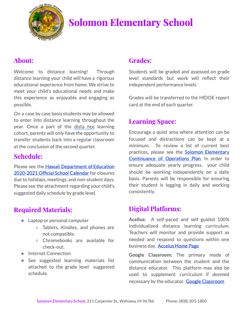 Distance Learning Newsletter
