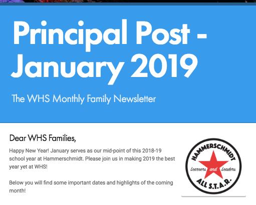 Principal Post- January 2019 Family Newsletter Thumbnail Image