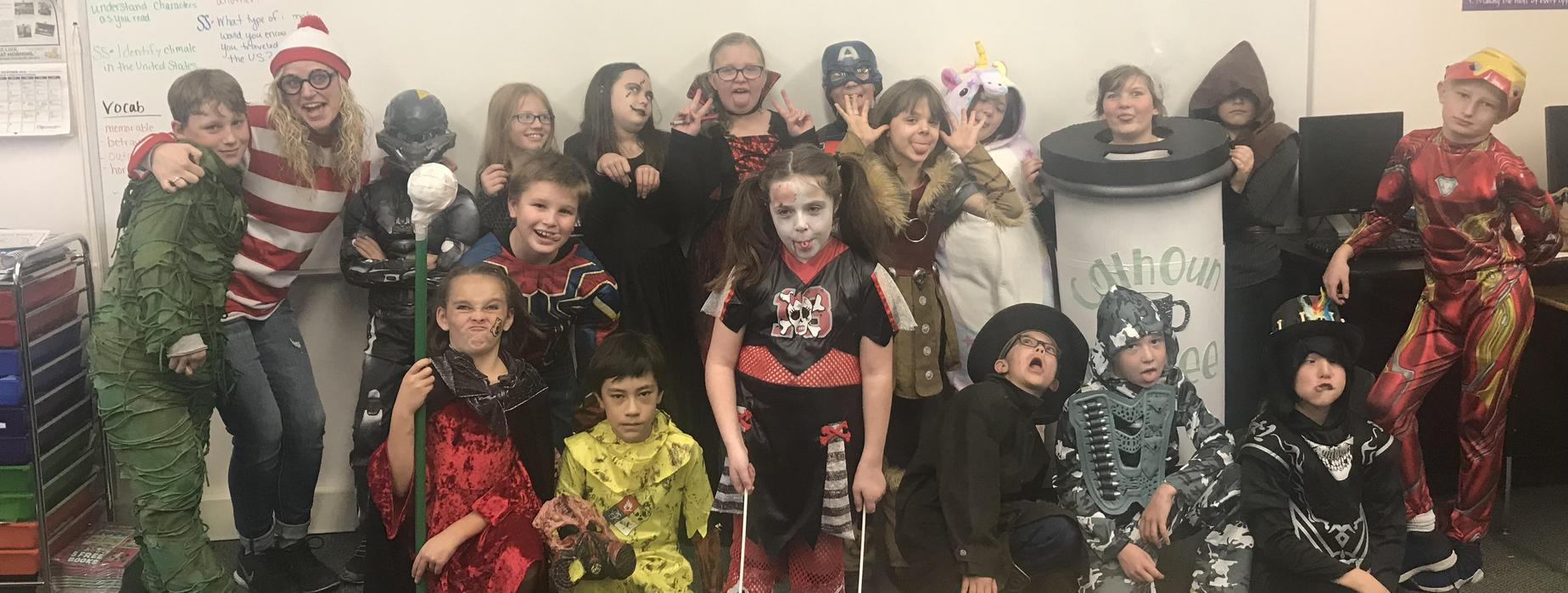 Ms. Stanberry's Class on Halloween