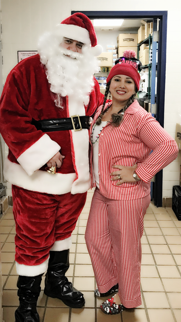 parent liaison ms jozza with santa
