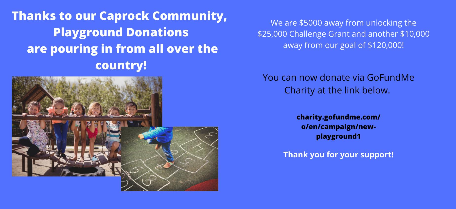 Playground Donations Update