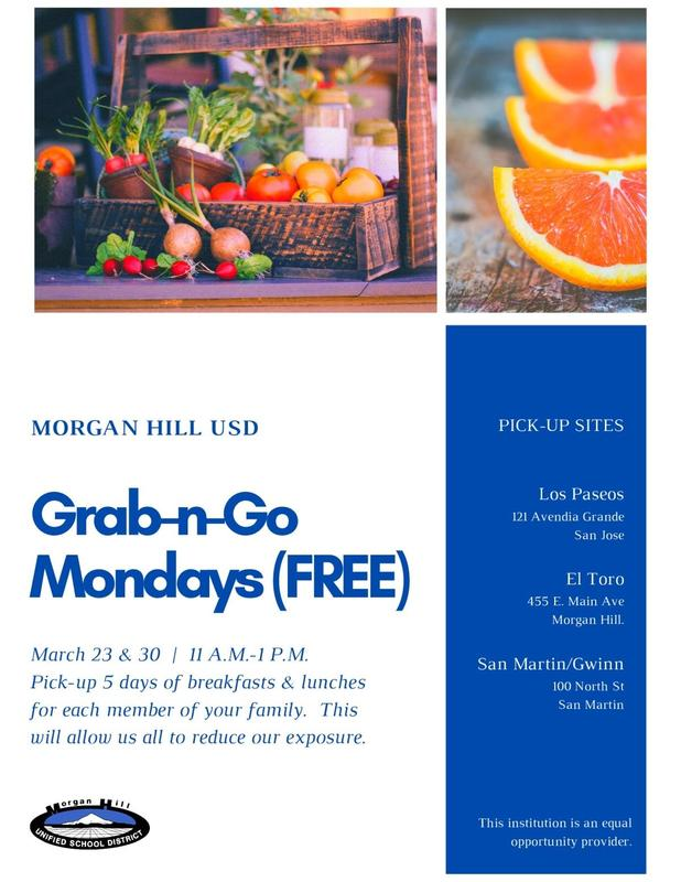 information about Grab and Go Mondays