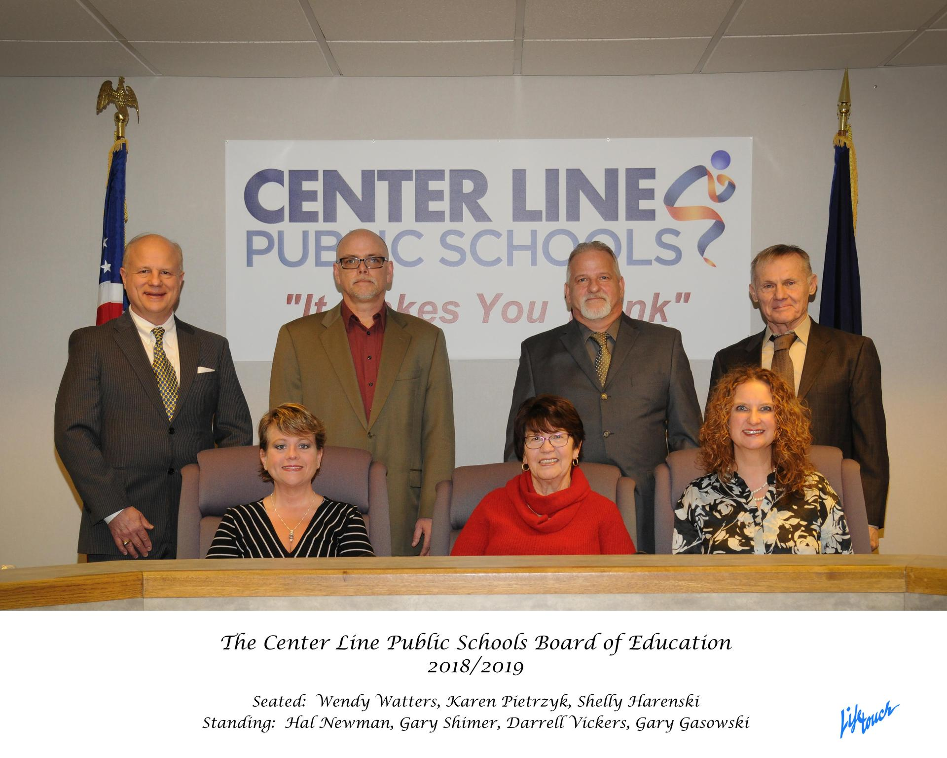 Center Line Board of Education 2019 with listed members