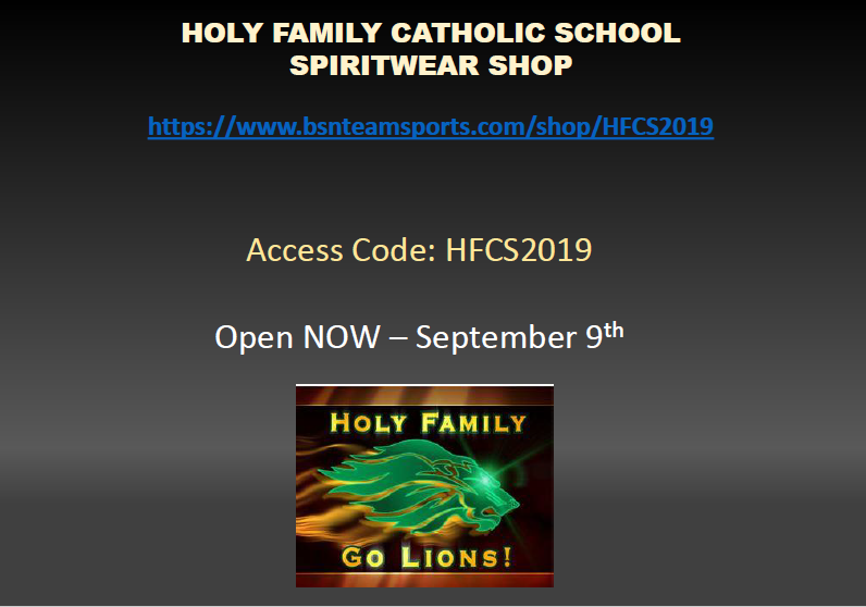 HFCS Spirit Wear On Sale Now Featured Photo
