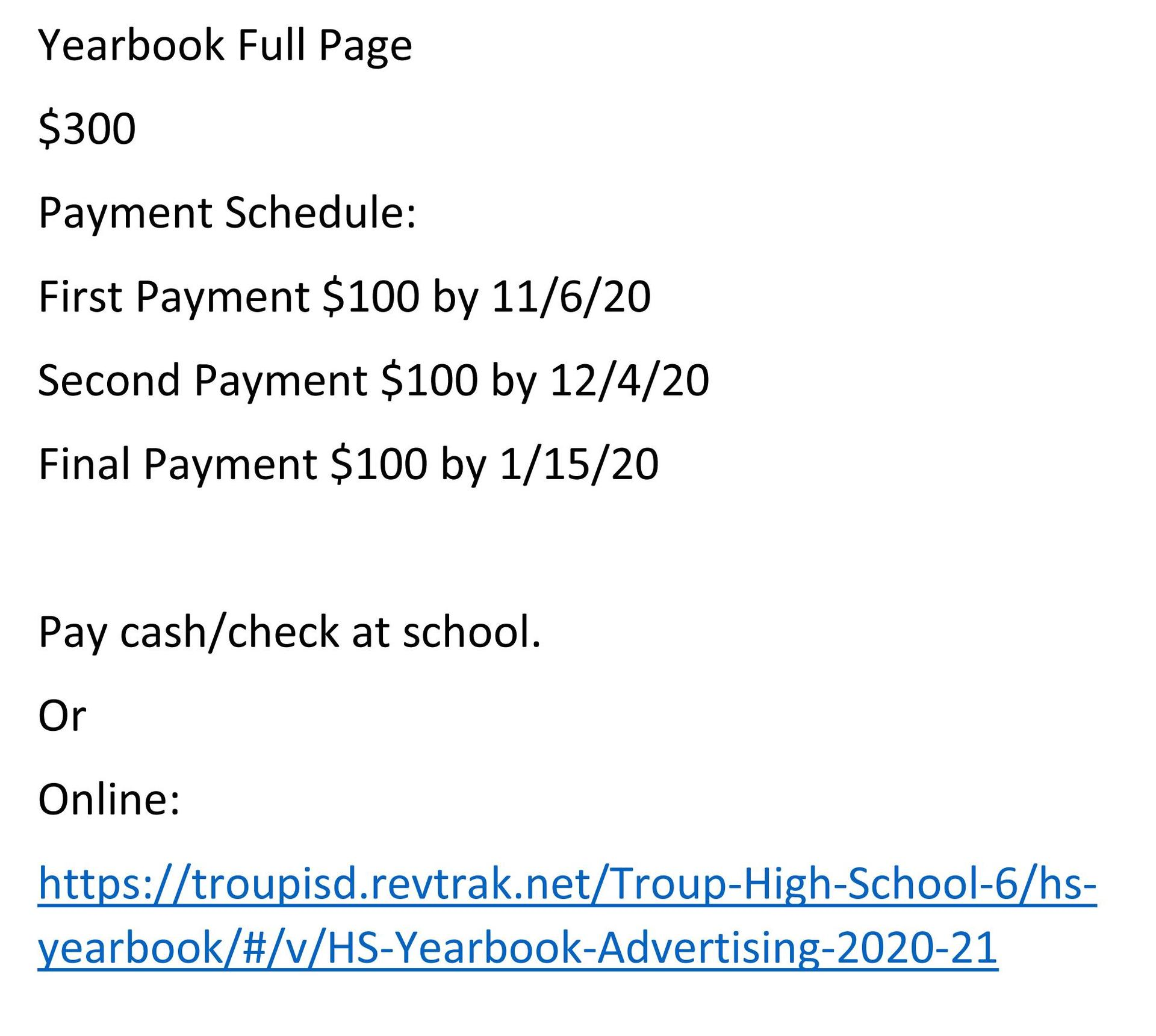 Page 2 Senior Ad Information