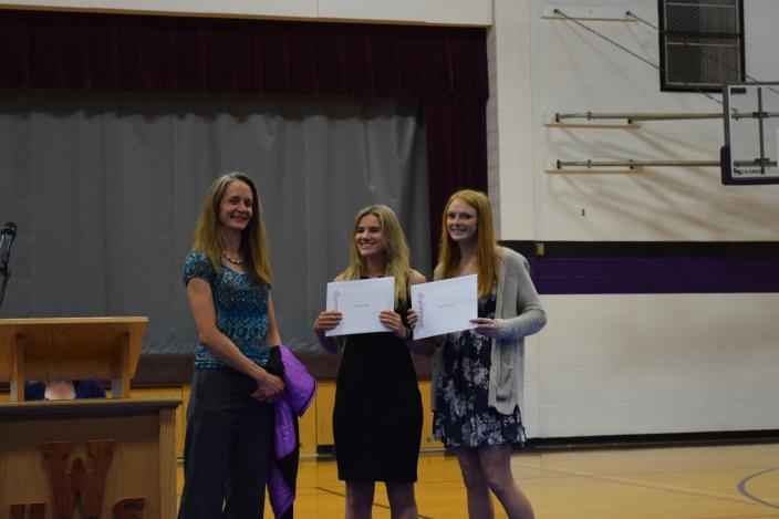 Students getting scholarships